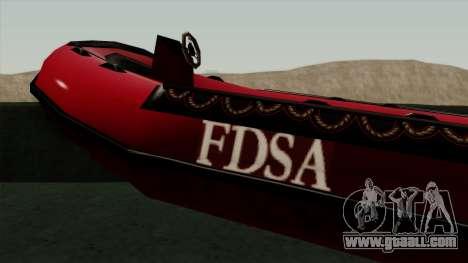 FDSA Dinghy for GTA San Andreas back left view