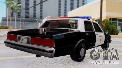Chevrolet Caprice 1980 SA Style LVPD for GTA San Andreas left view