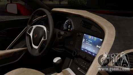 Chevrolet Corvette C7 Stingray 1.0.1 for GTA San Andreas back view