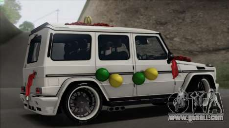 Mercedes Benz G65 Hamann Tuning Wedding Version for GTA San Andreas right view