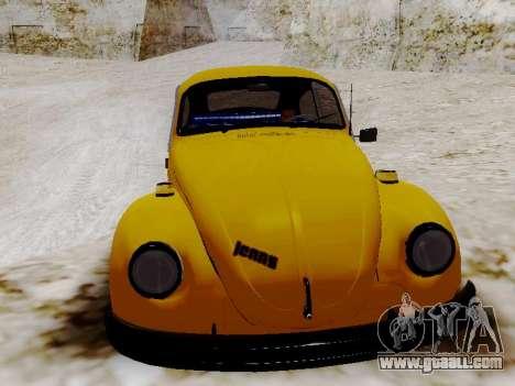 Volkswagen Beetle 1975 Jeans Edition Custom for GTA San Andreas inner view
