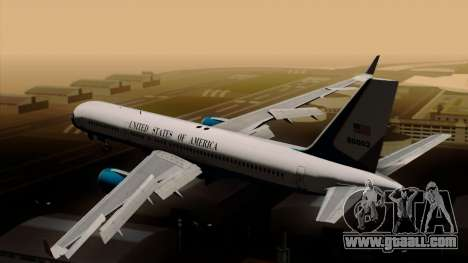 Boeing C-32 Air Force Two for GTA San Andreas left view