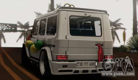 Mercedes Benz G65 Hamann Tuning Wedding Version for GTA San Andreas inner view
