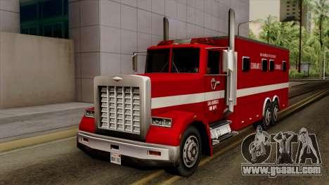 FDSA Mobile Command Post Truck for GTA San Andreas