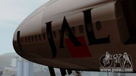 DC-10-30 Japan Airlines for GTA San Andreas back view