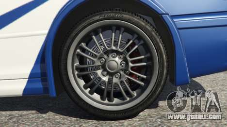 GTA 5 BMW M3 GTR E46 Most Wanted v1.3 rear right side view