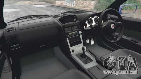 GTA 5 Nissan Skyline R34 GT-R v0.1 rear right side view