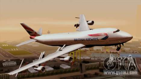 Boeing 747 British for GTA San Andreas