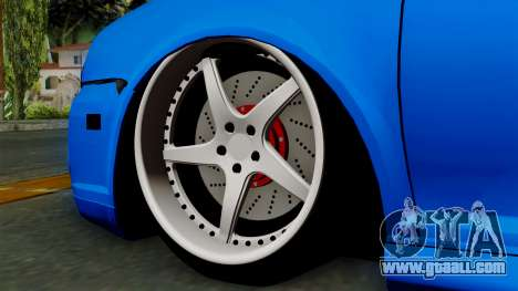 Volkswagen Golf Mk4 Stance for GTA San Andreas back left view