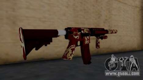 M4A1 Royal Dragon for GTA San Andreas second screenshot