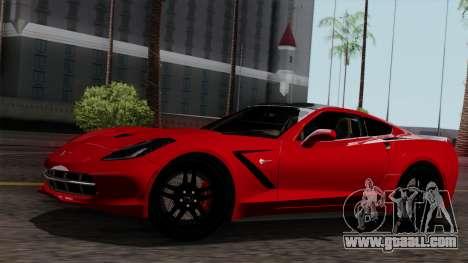 Chevrolet Corvette C7 Stingray 1.0.1 for GTA San Andreas interior