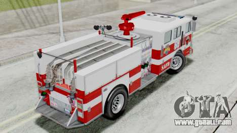 MTL SAFD Firetruck Flat Shadow for GTA San Andreas back left view