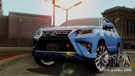 Lexus GX460 2014 v1 for GTA San Andreas back view