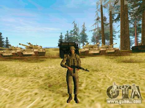 Pak fighters of special troops of GRU for GTA San Andreas second screenshot