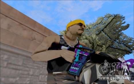 M4A1 Color for GTA San Andreas second screenshot