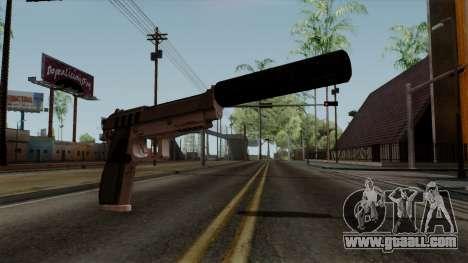 Original HD Silenced Pistol for GTA San Andreas
