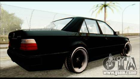 Mercedes-Benz E500 W124 for GTA San Andreas back left view