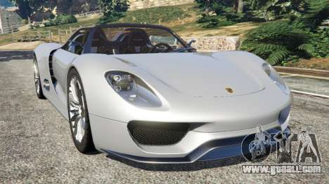 Porsche 918 Spyder for GTA 5