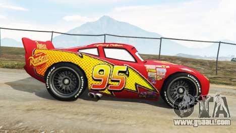 GTA 5 Lightning McQueen [Beta] left side view