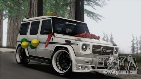 Mercedes Benz G65 Hamann Tuning Wedding Version for GTA San Andreas back left view