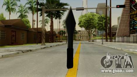 Throwing knife for GTA San Andreas