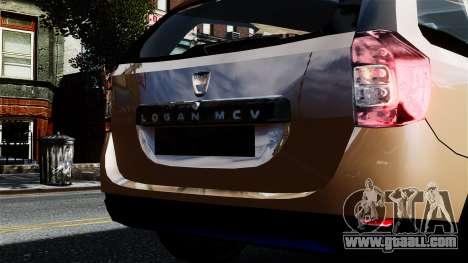 Dacia Logan MCV Stepway 2014 for GTA 4 right view