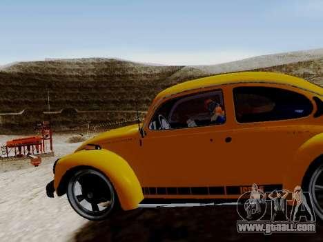 Volkswagen Beetle 1975 Jeans Edition Custom for GTA San Andreas