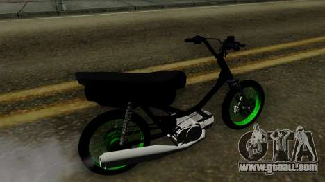 Honda Wave Desarmada Stunt for GTA San Andreas back left view