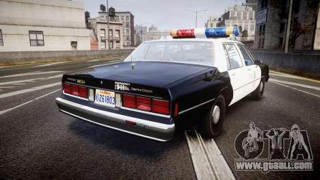 Chevrolet Caprice 1989 LAPD [ELS] for GTA 4 back left view