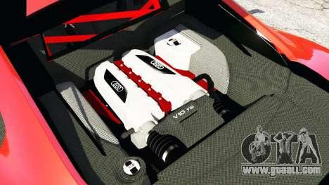 GTA 5 Audi R8 GT 2011 v0.5 [Beta] rear right side view