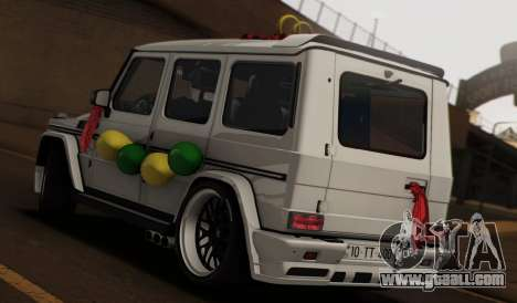 Mercedes Benz G65 Hamann Tuning Wedding Version for GTA San Andreas left view