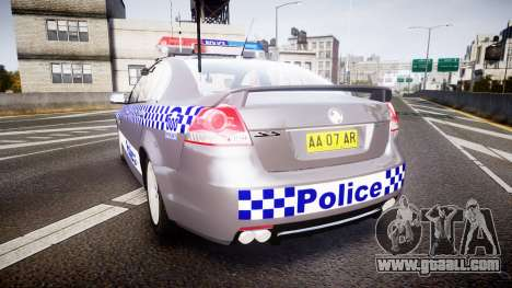Holden VE Commodore SS Highway Patrol [ELS] for GTA 4 back left view