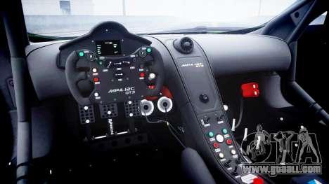 McLaren MP4-12C GT3 blank liveries for GTA 4 inner view