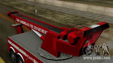 FDSA Heavy Rescue Truck for GTA San Andreas right view