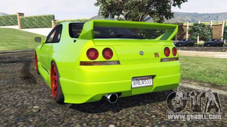 GTA 5 Nissan Skyline BCNR33 [Beta] rear left side view