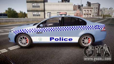 Ford Falcon FG XR6 Turbo NSW Police [ELS] v2.0 for GTA 4 left view