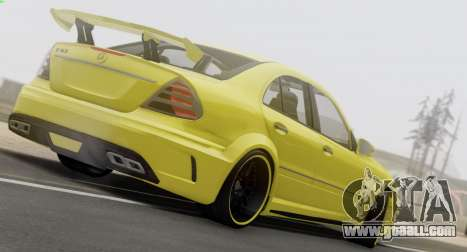 Mercedes-Benz E63 Qart Tuning for GTA San Andreas inner view