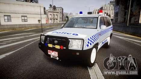 Toyota Land Cruiser 100 2005 Police [ELS] for GTA 4