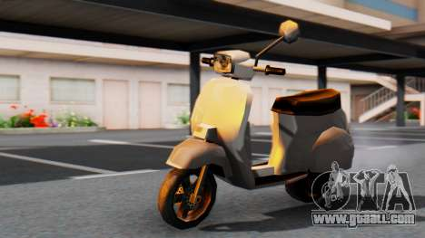 New Faggio for GTA San Andreas back left view