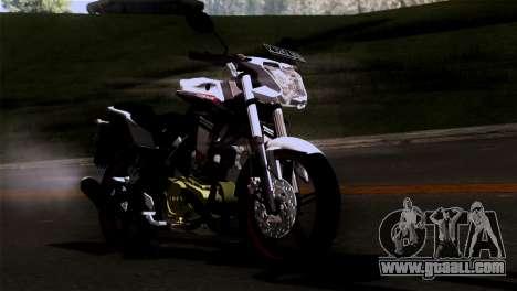 Yamaha Vixion Advance Lominous White for GTA San Andreas