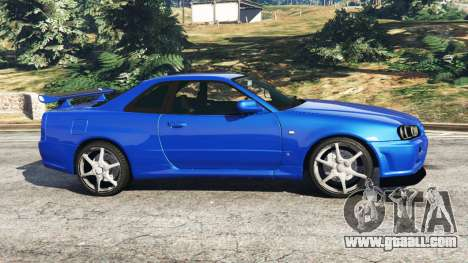 Nissan Skyline R34 GT-R v0.1 for GTA 5
