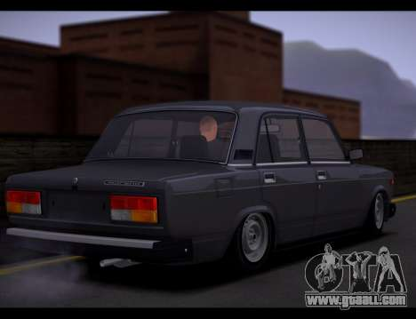 VAZ 2107 Runoff Quality for GTA San Andreas inner view