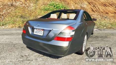 GTA 5 Mercedes-Benz S500 W221 v0.2 [Alpha] rear left side view