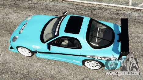GTA 5 Mazda RX-7 C-West v0.1 back view