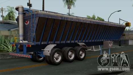 Trailer Silos for GTA San Andreas left view