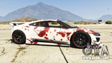GTA 5 Dinka Jester (Racecar) Blood left side view