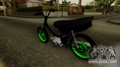 Honda Wave Desarmada Stunt for GTA San Andreas left view