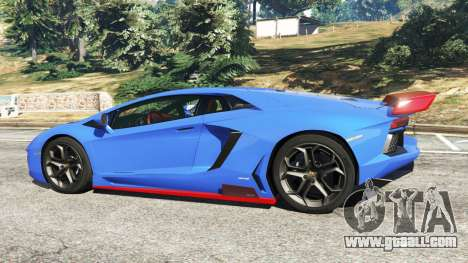 GTA 5 Lamborghini Aventador LP700-4 v1.2 left side view