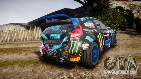 Ford Fiesta RS Ken Block 2015 for GTA 4 back left view
