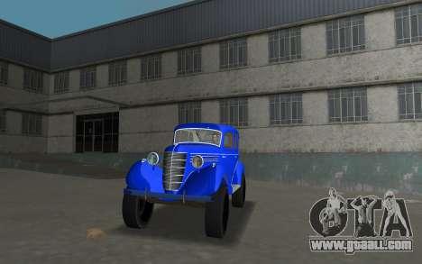 GAZ 11-73 Royal Blue for GTA Vice City back left view
